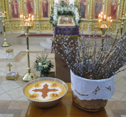 Праздничные богослужения в Неделю ваий